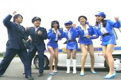出勤!!nチラッとミニスポリスより。吉永千夏のパンツが見えている