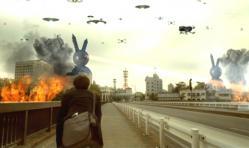 UFOが東三河の町を攻撃している