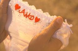 Aikoの刺繍入りのパンティ