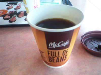 20100808マクドナルドのホットコーヒー