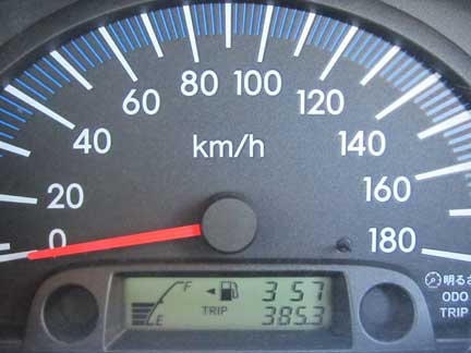 20101110サクシードのメーター