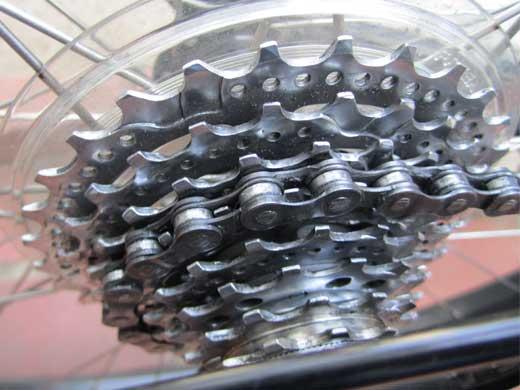 20110511ROCK5000のスプロケットはピカピカ!