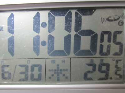 20110630の夜は29.5度