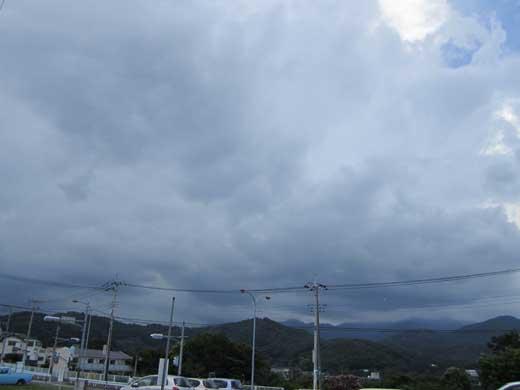 20110806帰り道は雨雲と雷様がぁ・・・