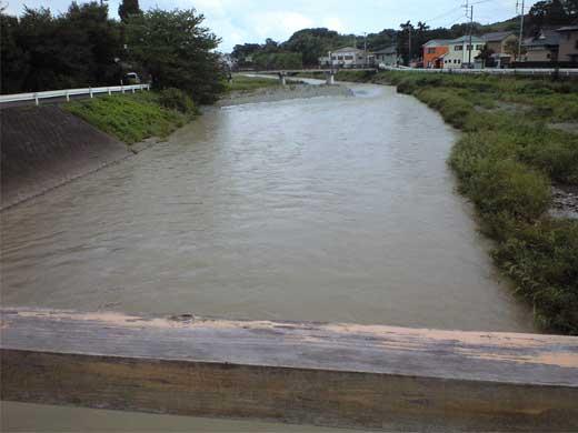 20110904金目川は水量多め