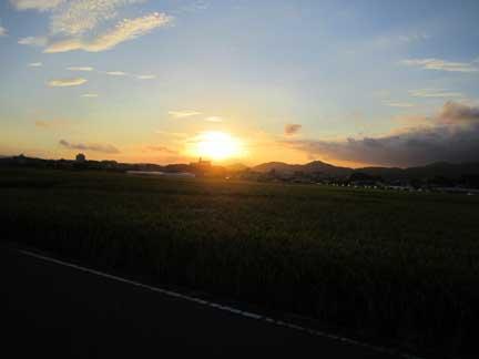 20110919昨日の夕日