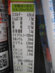 200ml入りは62kcal