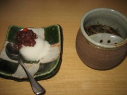 生姜のシャーベットと薬膳茶