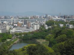 天守閣から見た名古屋の街 ナゴヤドームも見えました(^^)
