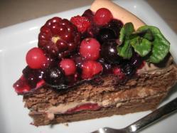 ベリーのチョコケーキ