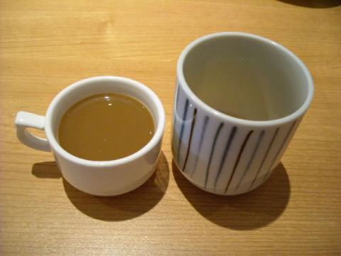 おさかな亭白根店・コーヒー