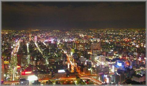 JRセントラルタワーからの夜景