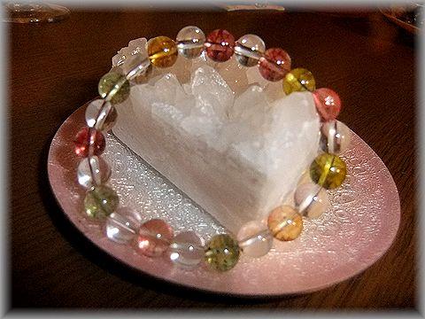 カラートルマリンと水晶