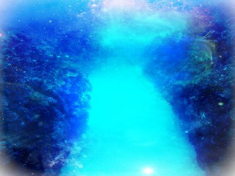 海の中にある道