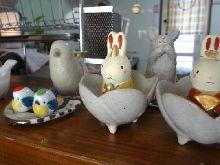 ウサギと小鳥