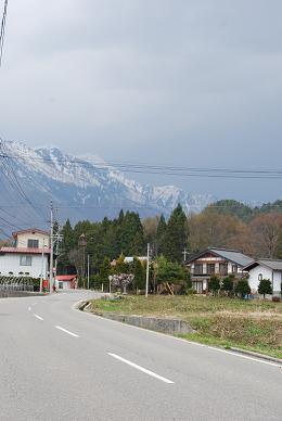 街から見える雪山