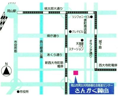 000154432さんかく岡山(アクセス・地図)