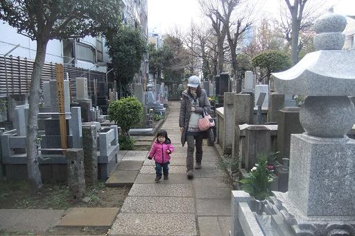 2011年大晦日の墓参