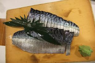 松輪鯖の〆サバ