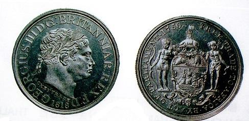 ゴールドコースト アッキイ銀貨 1818年ジョージ3世