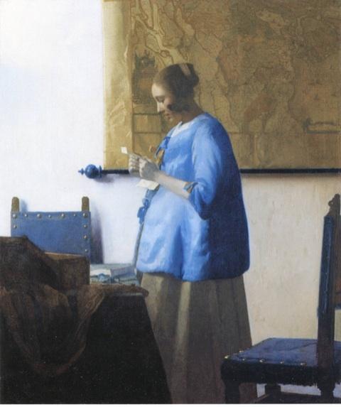 フェルメール 青衣の女