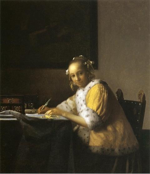 フェルメール 手紙を書く女