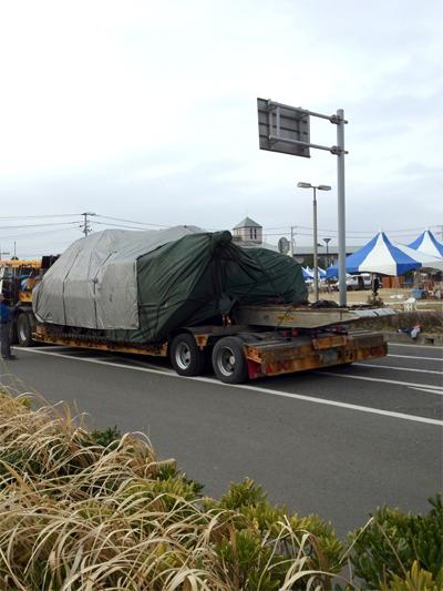日通さんに梱包された74式戦車