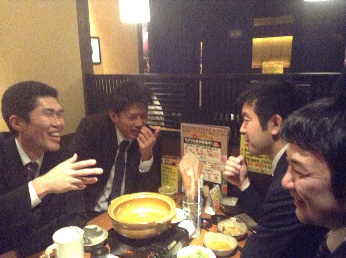 プロサラ千葉支部の仲間との会食