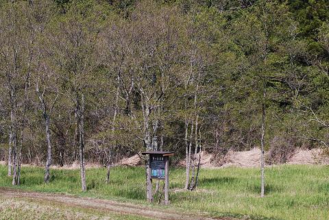 鴨ケ谷湿原の草が刈られた