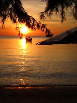 タオ島、サンセット、サイリービーチ