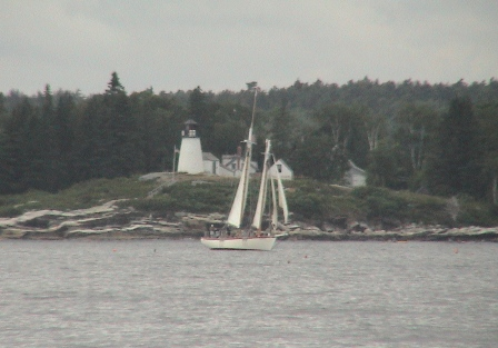 Eastwind sailing at near boothbay