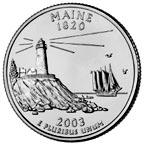 Maine State Quater
