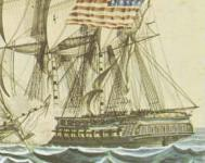 USS Constitution vs HMS Java 1812 Watercolor Starn View