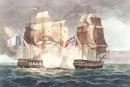 La Gloire vs HMS Astrea 1795