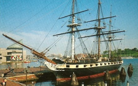 USS Constellation at Baltimore with Frigate Configration