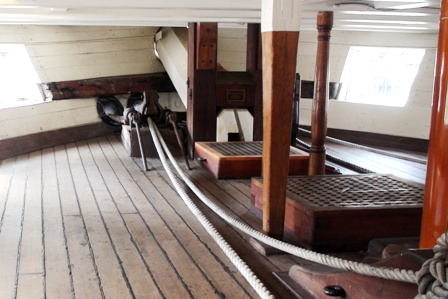 USS Constellation (9) Gun Deck Front
