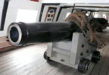 USS Constellation (12) 64pdr Shell Gun