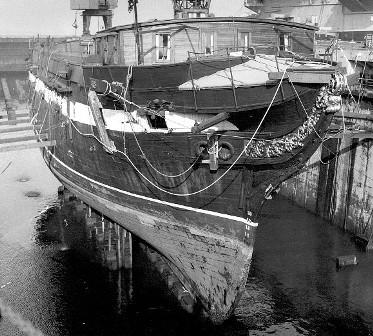 USS Constellation at Boston (2) 1946