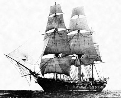 USS Constellation under the sail