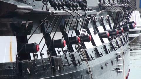 USS Constitution 2009 艦舷