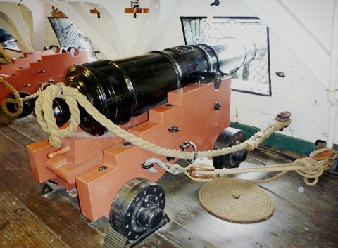 USS Constitution 24pdr cannon