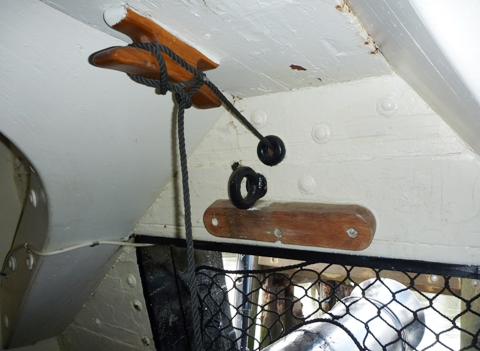 USS Constitution 2009 砲門開閉装置
