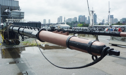 USS Constitution メインヤード