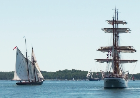 Bluenose 2 with Sagres 7.20.2009