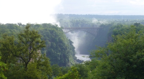 Victoria Falls from the hotel Jan 2008