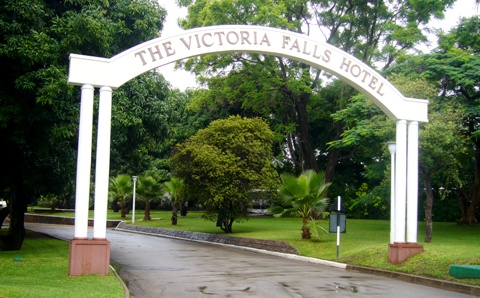 Victoria Falls Hotel Entrance Gate
