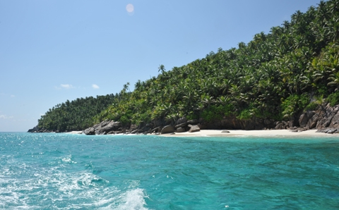 Anse Victorin from the sea