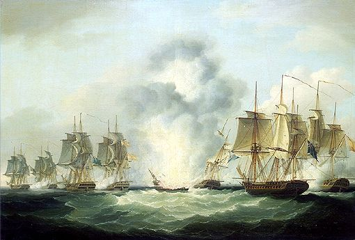 Four_frigates_capturing_Spanish_treasure_ships Oct 4, 1804