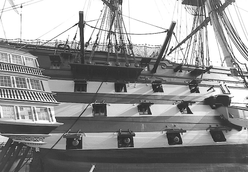 HMS Victory side view 1992