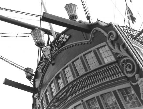 HMS Victory Stern (2)1992